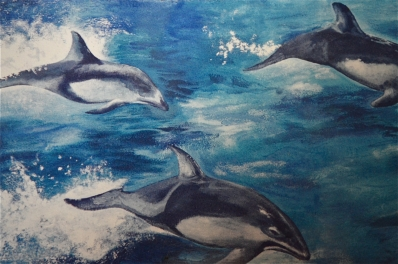 Dolphins, (detail)